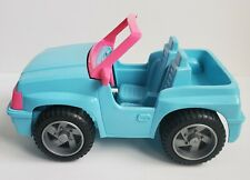 Vintage 1994 Barbie Blue Beach Jeep Dune Buggy 4x4 Push Toy