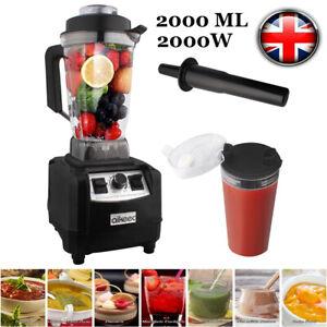 Personal Blender Smoothie Maker Fruit Food Shake Juicer Processor 2L 2000W UK