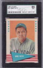 1961 Fleer #75 BABE RUTH SGC 86 7.5 NM+ Near Mint Plus Graded Old Baseball Card