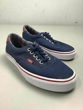 Women's Vans Navy Blue & Brown Leather Shoes Size 8