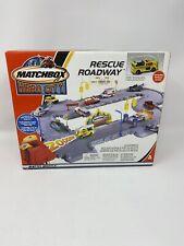 Mattel Matchbox HERO CITY RESCUE ROADWAY Playset 2002 w Box Rare Set
