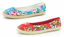 Unbranded Canvas Floral Flats for Women