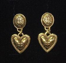 NEW, Beautiful BRIGHTON gold-tone Capri Hearts earrings !  FREE SHIPPING !!