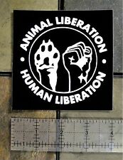 "4x4"" Human & Animal Liberation Sticker - Anarchy Front Rights Vinyl Earth Vegan"