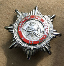 ORIGINAL MERSEYSIDE FIRE BRIGADE Cap Badge