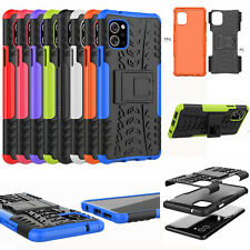 For LG Q92 5G, 3D 2in1 Dual-Layer Shockproof Rugged Hybrid Armor Case +glass