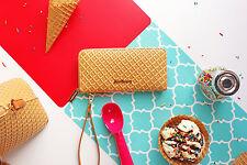 Genuine Shoe Bakery Waffle Cone Wristlet Wallet Purse Ladies Baking Brand New