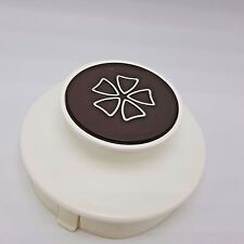Mr Coffee Pot Carafe Replacement Lid WD12 WD10 1978 Plastic White Brown Drip