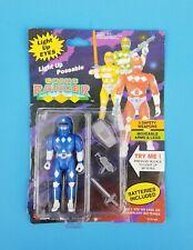 Vintage 1994 Soma Light Up Eyes Blue Sonic Ranger Action Figure