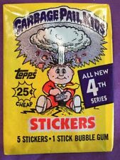 1986 Garbage Pail Kids 4th Series Unopened Pack, 1 RARE-WHITE CLOUD Wax Pack