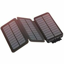 Hiluckey Solar Charger 24000mAh Portable Phone Charger Power Bank, 3 Solar Panel