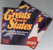 GREATS FROM THE STATES - UK PROMO 2 CD SET (2005) JOHNNY CASH, FRANK SINATRA ETC