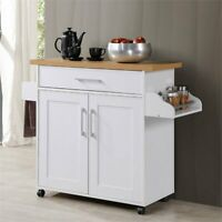 Rolling Kitchen Serving Bar Cart Utility Spice Rack Storage Cupboard Furniture