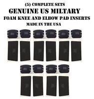 ELBOW KNEE PAD INSERTS US MILITARY COMBAT UNIFORM TACTICAL 5 PR EA 20 PADS NEW