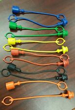 """JOHN DEERE FASSE 12PC COLORED HYDRAULIC PLUGS AND CAPS KIT ISO 1/2"""""""