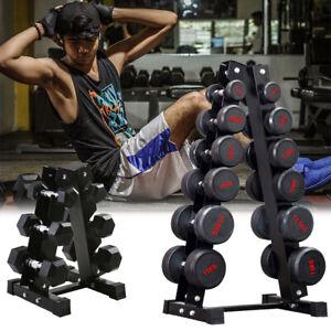 3/6 Tiers Dumbbells Bracket Hex Weight Stand Gym Home Storage Rack Tree Holder