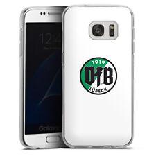 Samsung Galaxy S7 Silikon Hülle Case - VfB Lübeck Weiss #2