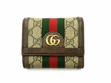 Authentic Gucci Ophidia GG Trifold Wallet 523174 20001427TC