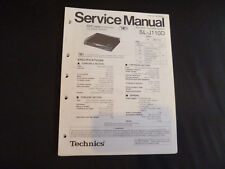 Original Service Manual Technics SL-J110D