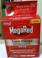 Schiff MegaRed Advanced 4 in 1 500mg Omega 3's Krill Oil 25 Softgels
