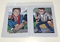 BAM BOX LTD EXCLUSIVE BACK TO THE FUTURE MARTY MCFLY BILL TANNEN TRADING CARDS