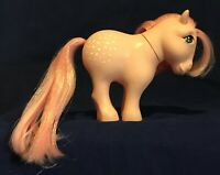 Vintage My Little Pony Cotton Candy Pink G1 1982 Flat Foot White Dots Cutie Mark