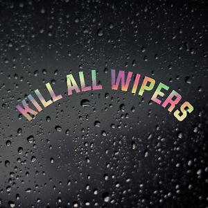 Kill All Wipers Gold Oil Slick Car Sticker, JDM DUB De-Wiper Rear Window Decal