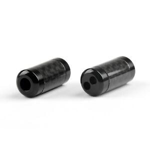 1x HiFi Carbon Fiber Pants Boot Y Splitter 1 To 2 Speaker RCA Cable Audio Black