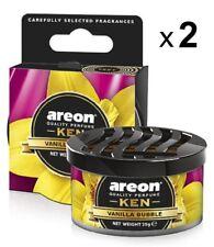 2 x Air Freshener Areon KEN Vanilla Bubble Luxury Perfume Car Home Fresheners