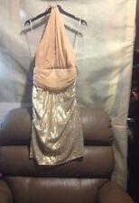 WOMENS  BADGLEY MISCHKA 'MODELE'  halter DRESS  BNWT SZ 6  RRP $299 (F15)