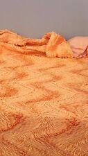 Dessus couvre lit MOUMOUTE ORANGE PELFRAN poils jeté de lit vintage déco chambre