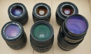 6x Untested Unchecked Unconfirmed Working Sigma Minolta Use Camera Lens BL39