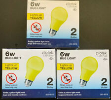 6 New Yellow LED Bug Light Bulb 6 watt (40w Replacement) Indoor/Outdoor 3-2 Pack