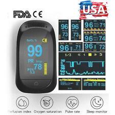 Finger Pulse Oximeter Blood Oxygen Saturation SPO2 Heart Rate  Patient Monito US