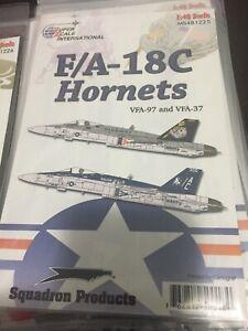 SUPER SCALE DECAL  #481225  1/48th  SCALE  F/A-18C  HORNETS  (GPM)