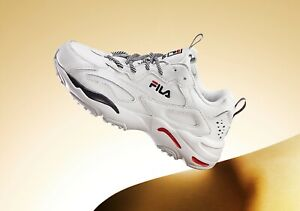 Fila Ray Tracer men's sneakers shoes size 7 white/blue/red 1RM00661-125