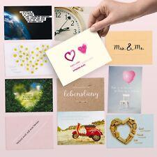 52 Postkarten Set liebevoll gestaltet zur Hochzeit als Spiel & Hochzeitsgeschenk