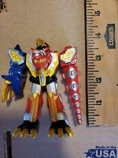 """Power Rangers Dino Thunder ABARANGER THUNDERSAURUS MEGAZORD Figure 4.5"""" Tall"""