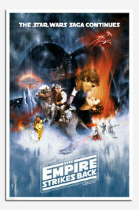 Laminated Star Wars The Empire Strikes Back One Sheet Official Poster New