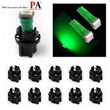 10x PA T5 73 74 Green LED Instrument Panel Dash Light Bulb + Twist Lock Socket