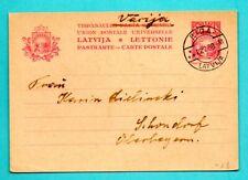 LATVIA LETTLAND STATIONERY CARD 20 San. USED RIGA 1938s 207