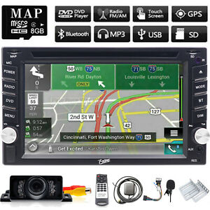 6.2 Inch Double 2Din Car Stereo GPS Navigation System TV DVD Player Bluetooth SD