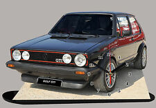MINIATURE, MODEL CARS, VOLKSWAGEN GOLF-05-GTI EN HORLOGE