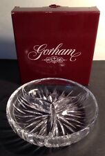 Gorham STAR BLOSSOM 3 Part Relish Dish lead crystal Germany with box clean