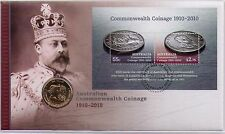 2010 Australia Post PNC - Commonwealth Coinage with $1 coin