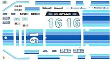 #16 Zakspeed/Roush '86 Mustang 1/64th Ho Scale Slot Car Waterslide Decals