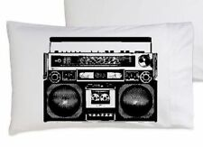 Two (2) A Boombox Is Not A Toy pillowcases funny black ghetto blaster radio
