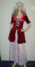 Donna Cameriera Vittoriana che serve FANCIULLA CONTADINA Donna Costume utilizzato 8-10 *