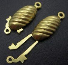 LOT de 8 FERMOIRS CLIPS 21 x 8mm DORES mat création bijoux perles