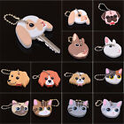 Fashion Silicone Key Ring Cap Head Cover Keychain Case Shell Animals Shape 1Pc